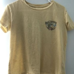 BILLABONG YELLOW CROP TEE